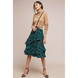 New Anthropologie Ruffled Skirt by Ranna Gill
